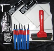 Lino Alternative / Ezy Carve Block Printing Set - Large - Excellent Value