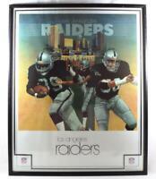 Vintage 1983 NFL LA Raiders American Football Poster Framed Original
