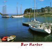 Schooners Janet May & Natalie Todd sailboats Bar Harbor Inn ME Vintage Postcard