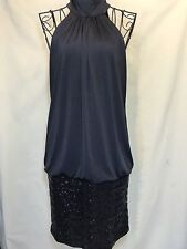 Fredericks Of Hollywood Black Sequenced Sleeveless Dress Sz Small Holiday Party
