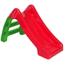 Childrens Starplast Garden Plastic Slide With Steps Outdoor Kids Toys Play