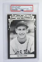 1973 - 1980 TCMA All Time Greats Postcard Ted Williams PSA 5 EX