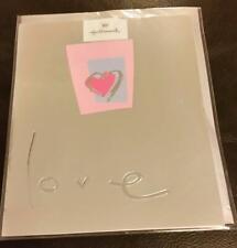 HALLMARK LOVE Blank Card with envelope new