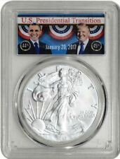 2017 Silver Eagle PCGS MS70 Presidential Transition Shipping on first coin only