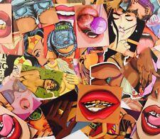 47 PCS Tease Vulgar Sexy Beauty Stickers Styling Sticker PVC Waterproof Decal