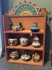 Friends of the Feather Shadowbox Display Shelf W/ 8 Mini Figurines Enesco