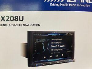"New ALPINE X208U 8"" DIGITAL MEDIA TOUCHSCREEN GPS NAVIGATION BLUETOOTH HD RADIO"