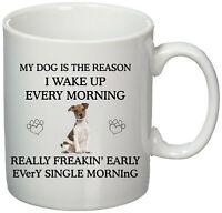 Jack russell Terrier mug - Printed Mug gift idea - Jack Russell gifts - I Wake u