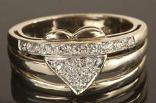 Lab-Created Band White Gold Fine Diamond Rings