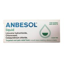 Anbesol Liquid Teething Ulcers Denture Irritation 15ml