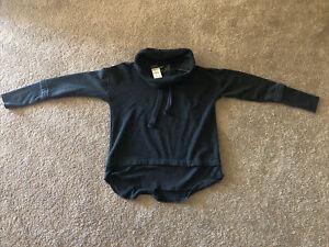 MONO B Women's Cowl Neck Sweatshirt - Size Small - Gray - NEW w/TAGS