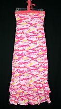 Girls So Tie Dye Maxi Dress sz 10 Pink Peach Yellow
