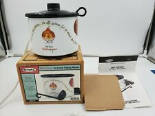 New ListingRival Hot Topper Ice Cream Topping Warmer original box #8204 Ic New-other