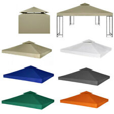 3x3M Garden Gazebo Top Cover Canopy Roof Replacement Tent 2-Tier Outdoor Patio