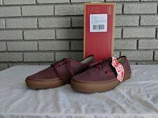 Vans Authentic Mens Womens Authentic Washed Gum Wine Shoes Size 9