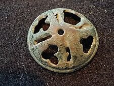 Beautiful Medieval bronze pommel top decoration  lovely ancient artifact L36e