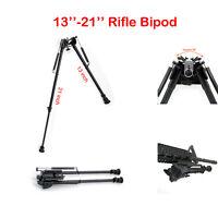 13-21 inches Adjustable Harris Style Rifle Bipod Swivel Gun Rest Spring Return