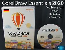 Corel DRAW Essentials 2020 Vollversion Box + DVD Grafiksoftware OVP NEU