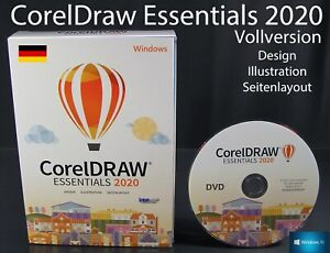 Corel DRAW Essentials 2020 2 PC Vollversion Box + DVD Grafiksoftware OVP NEU