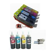 4 comp refillable cartridge HP 564 XL Photosmart 5510 5515 5520 plus 4x100ml ink