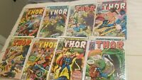 The Mighty Thor 264 265 266 269 270 271 272 273 Bronze Age Marvel Lot Nice