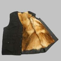 Winter Warm Thicken Wool Lined Real Fur Coat Vest Men's Jacket Tops Outwear N945