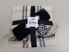 Echo Design Plaid Scarf & Headband Earwarmers Winter Wear Gift Set Neutral #5787