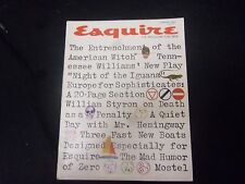 1962 FEBRUAY ESQUIRE MAGAZINE - GREAT COVER, PHOTOS AND ADS - ST 2614