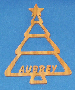 Personalized Christmas Tree Ornament - Canarywood