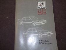 1989 Buick Lesabre Electra Park Avenue Service Repair Shop Workshop Manual OEM
