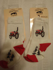 FOR BARE FEET ORIGINALS Baby Boys Infant Size 0-12 Month Tractor Socks NWT