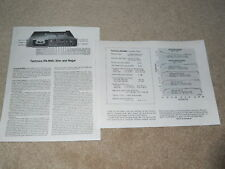 Technics RS-M85 Kassette überprüfen, 2 PG, 1979, seltene testen!