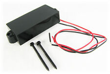 Black Covered Single-coil 4-Pole Pickup for Cigar Box Guitar & Bass