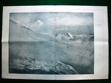 WW1 Guerra Mondiale 1918 Stampa enorme, Adamello,gen.Gouraud,Pershing,Montanari
