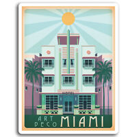 2 x 10cm Miami Florida Vinyl Stickers - America Sticker Laptop Luggage #17024