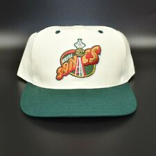 Seattle Sonics Supersonics Twins Enterprise Spell Out Vintage Snapback Cap Hat