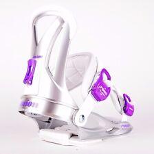 2014 NIB WOMENS UNION ROSA SNOWBOARD BINDINGS $160 S Silver Purple strap in