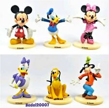6pcs Mickey Mouse figurine figure playset cake topper Minnie Donald Daisy Goofy
