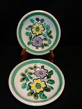"Boch Belgium IN THE MOOD 8 5/8"" SOUP / CEREAL BOWLS Lot x 2 Handpainted Floral"