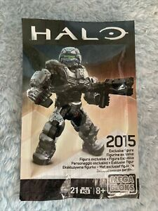 Mega Construx Halo 2015 Exclusive Figure With Weapon Spartan New Free Shipping