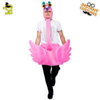 Men's Pink flamingo Jumpsuit Animal Costume for Carnival Party