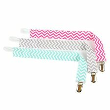 Pacifier Clip 2 - Sided Design, Wavy Designed Pacifier Holder for Baby Pack of 3