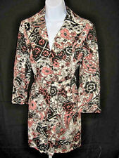 (EUC) Nine West Long Black/Multi-Color Jacket Coat Ladies Size 6