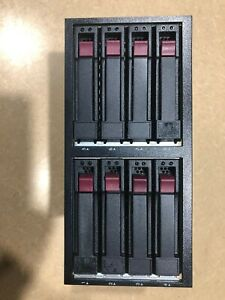 "HP DL380 G6/7 8 Bay 2.5"" SAS/SATA Drive Cage NAS CHIA crypto PLOT"
