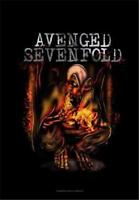 """AVENGED SEVENFOLD  Rock flag/ Tapestry/ Fabric Poster  A7X """"Fire Bat"""" NEW"""