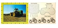 NEW JOHN DEERE Birthday Party Set of 4 Tractor Placemats Fun Activties on Back