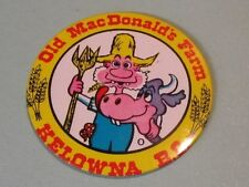 Vintage Old MacDonald's Farm Kelowna British Columbia Canada Pin Pinback Button