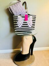 💋BETSEY JOHNSON BOW TOTE 2 In 1 W/Crossbody Bag Set Bag In A Bag