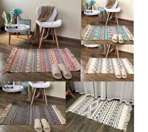 Home Living Carpet Room Bedroom Floor Mat Ethnic Bohemian Geometric Decor Rug G1