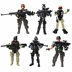 YIJIAOYUN 6 Pcs Action Figure Army Soldiers Toy with Weapon / Military Figures
